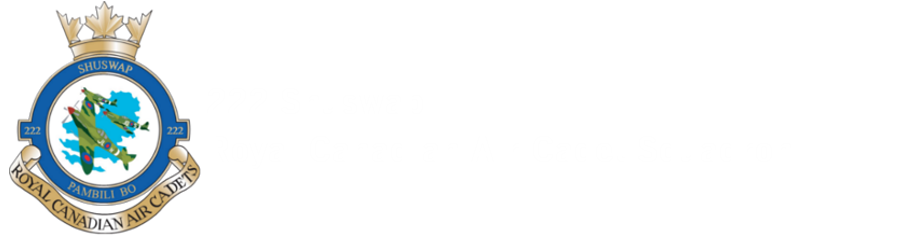 222 Shuswap Royal Canadian Air Cadet Squadron Logo