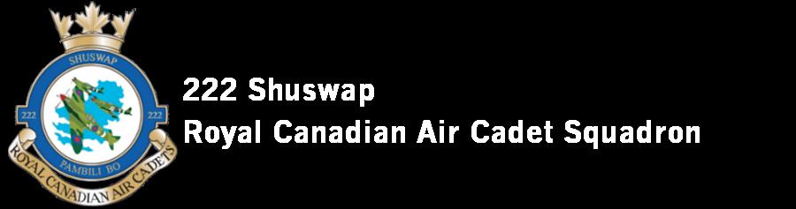 222 Shuswap Royal Canadian Air Cadet Squadron Logo